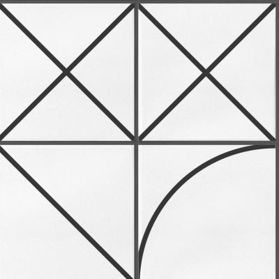 Azulejos geometría bauhaus negro - vinilo lavable autoadhesivo para paredes y muebles de cocina oscura nórdica