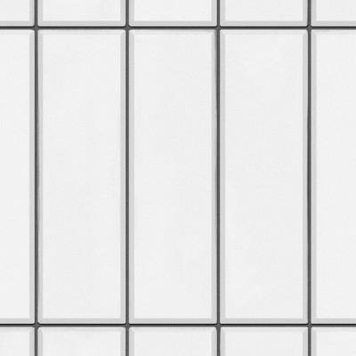 Azulejos verticales blancos juntas negras - vinilo lavable autoadhesivo para paredes de cocina, frentes o copetes