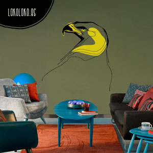Vinilo de pájaros de 2 colores para decorar tu hogar