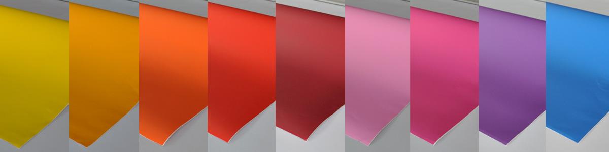 Colores de vinilo decorativo