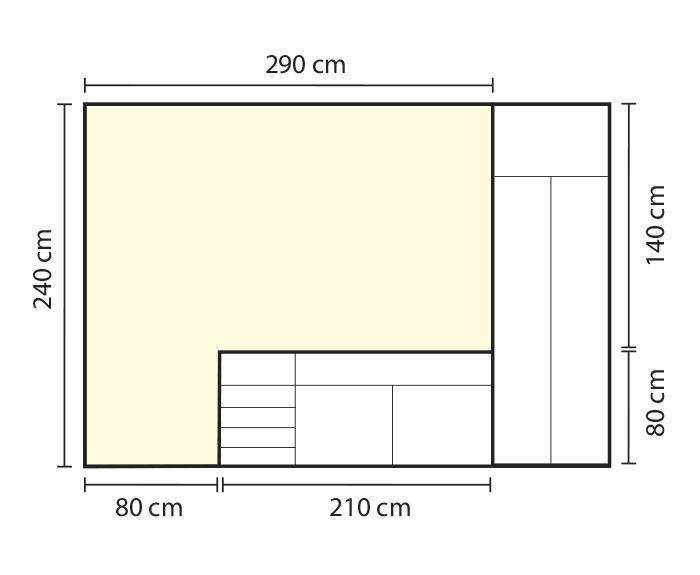 Medir pared de cocina para forrar con vinilo autoadhesivo. Lokoloko
