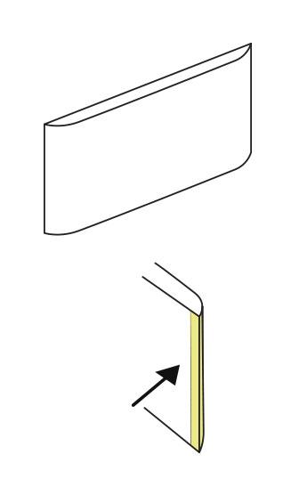 Cómo cantear con vinilo cajones de bordes curvados. Lokoloko