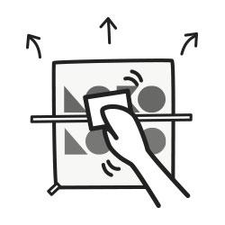 Aprende cómo pegar vinilo decorativo de siluetas en la pared