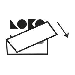 Retirar papel transportador del vinilo decorativo. Lokoloko