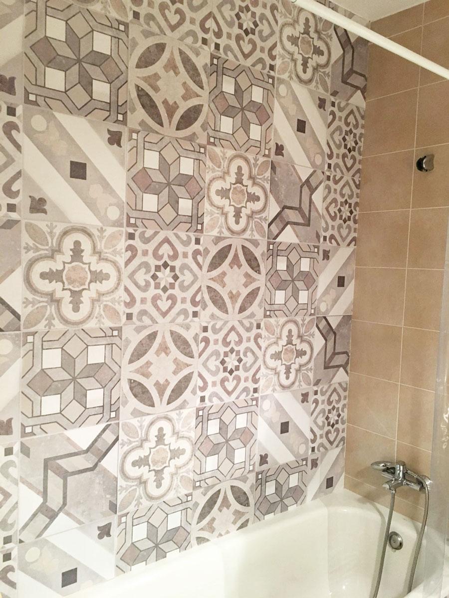Vinilo autoadhesivo para paredes de azulejos de bañeras
