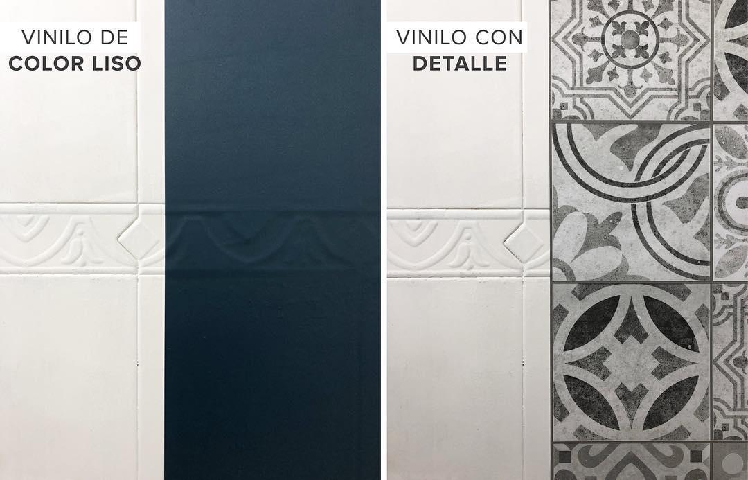 Vinilos adhesivos en azulejos y cenefas. Lokoloko