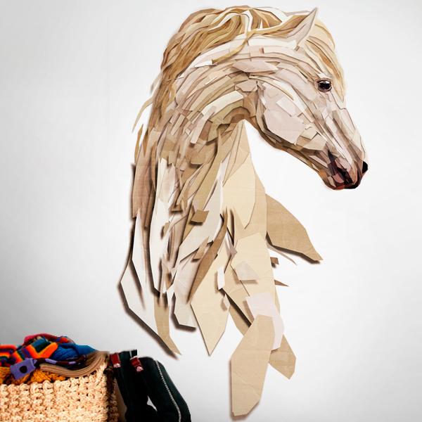 Vinilo decorativo de caballo poligonal