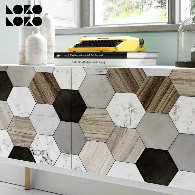 Vinilos decorativos para muebles paredes suelos y - Azulejos hexagonales bano ...